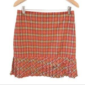 Ann Taylor loft school girl plaid wool skirt